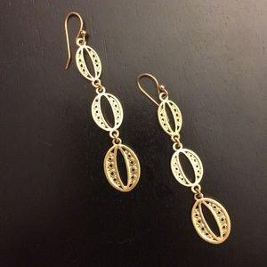 Stella & Dot Gold Kimberly Drop Earrings